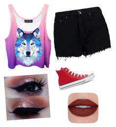 """""""Untitled #20"""" by myclothsoffashon on Polyvore featuring Boohoo and Converse"""