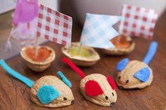 Racing Walnut Shell Mice Kids Crafts