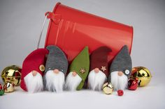 Gnome Christmas Ornament Pattern & Tutorial — Stubbornly Crafty Christmas Sewing Projects, Felt Crafts, Christmas Crafts, Christmas Ornaments, Christmas Ideas, Holiday Fun, Christmas Time, Sewing Machine Thread, Gnome Ornaments