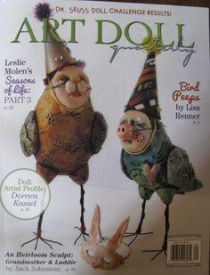 Lisa Renner's Bird Peeps made the cover of the Summer 2016 Art Doll Quarterly magazine! Article inside!