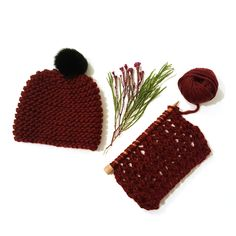The Chunky Knitting Wool Sangria Red
