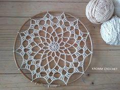 Crochet Mandala Pattern, Crochet Flower Patterns, Crochet Doilies, Crochet Flowers, Dream Catcher Craft, Dream Catcher Boho, Thread Crochet, Crochet Stitches, Diy Dream Catcher Tutorial