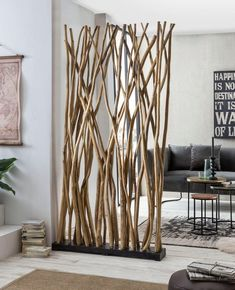 Newell Room Divider Alpen Home Living Room Partition Design, Room Partition Designs, Rustic Gardens, Diy Home Crafts, Tree Branches, Shabby Chic, Interior Design, Decoration, Home Decor