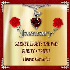 Zodiac and Birth Month | Jewels Art Creation| January Profile                                                                                                                                                                                 More