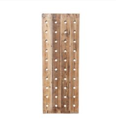 Reclaimed wood wine rack - holds up to 40 bottles!! I absolutely love this, and will definitely be ordering it!
