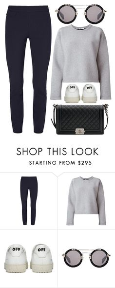 """""""Casual"""" by cherieaustin ❤ liked on Polyvore featuring Tory Burch, T By Alexander Wang, Off-White, Yohji Yamamoto and Chanel"""