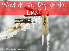 What do you Dry on the Line? + Giveaway