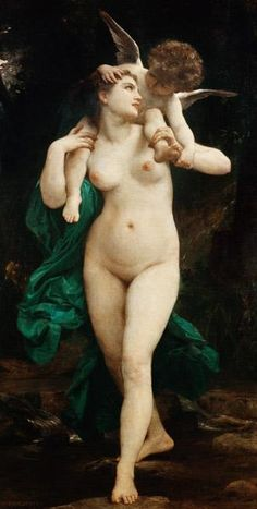 William Adolphe Bouguereau - Venus und Amor.