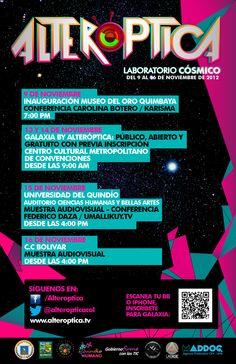 Flyer Alteróptica. Para mayor información ingresa a: http://www.alteroptica.tv/