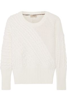 Burberry - Cable-knit Wool And Cashmere-blend Sweater - Cream - x small