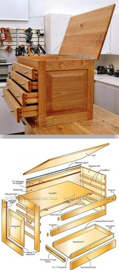 Carvers Tool Chest Plans - Workshop Solutions Projects, Tips and Tricks | WoodArchivist.com