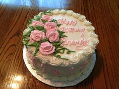Rose Birthday cake Made by my momma @Susie Ward