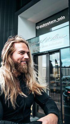 Lasse Matberg Long Hair Beard, Long Curly Hair, Norwegian Men, Hair And Beard Styles, Long Hair Styles, Raining Men, Sexy Men, Hot Men, Perfect Man