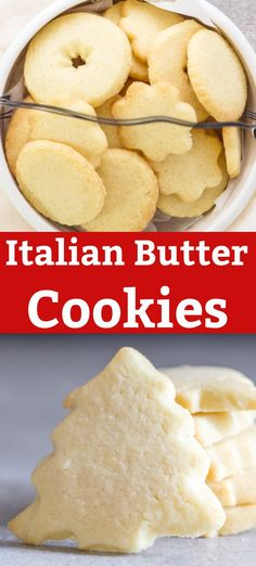 A buttery simple Italian Cookie. These Italian Butter Cookies are perfect anytim… A buttery simple Italian Cookie. These Italian Butter Cookies are perfect anytime. Serve them as a holiday cookie or with tea or coffee in the afternoon. New Year's Desserts, Cookie Desserts, Christmas Desserts, Christmas Baking, Dessert Recipes, Cake Recipes, Baking Desserts, Italian Butter Cookies, Italian Cookie Recipes