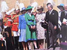 June 15, 1981: Lady Diana Spencer attends the service of the Order of the Garter at Windsor. Due to pregnancies and Royal tours, she did not attend the ceremony again until 1985
