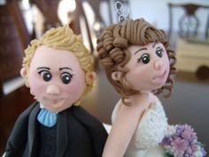 fondant bride and groom
