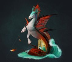Fire seahorse by AlsaresLynx
