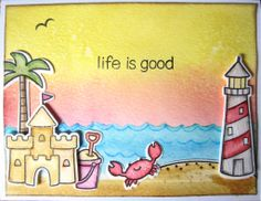 Lawn Fawn - Life is Good + coordinating dies _ gorgeous card by scrapscrapthat via Flickr - Photo Sharing!
