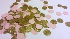 Blush Pink and Glitter Gold Confetti Blush by SignsationalSayings