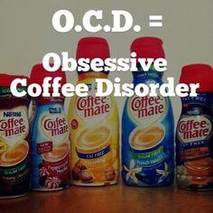 Ocd-obsessive coffee disorder Renz Nicole Lofton Lofton we HAVE this! Coffee Barista, Coffee Talk, I Love Coffee, Coffee Break, Best Coffee, Coffee Shop, Coffee Drinks, Coffee Cups, Coffee Quotes