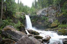 Sutherland Falls, Blanket Creek Provincial Park, B.C. Love camping here