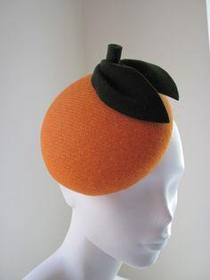 Cocktail Hat Harris Tweed Orange  BY KAREN GERAGHTY  #millinery #hats #HatAcademy