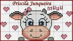 Cow cross stitch.