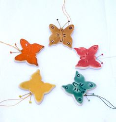 Christmas tree ornament ceramic by ColorofceramicJuliaD on Etsy, $5.00