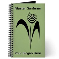 Master Gardener Green Hobby Crafts Journal, editable text, personalized gift #green