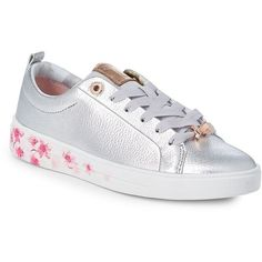 0ff967ee3e414a Ted Baker London Women s Kelleip Floral Lace-Up Leather Sneakers ( 160) ❤  liked on Polyvore featuring shoes