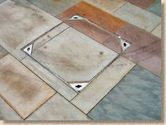 recess tray with stone flags