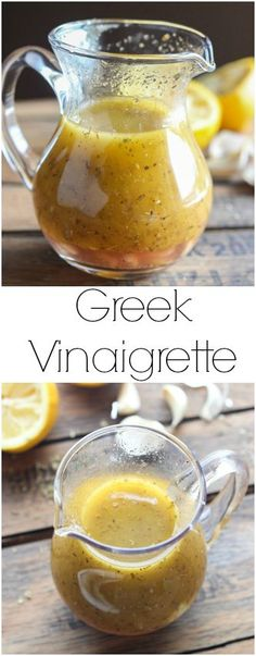 With perfect hint of lemon, garlic, and spices, this Greek Vinaigrette will make you want to eat more salad! |