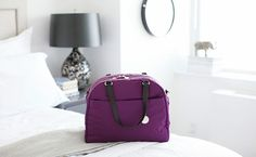 A lightweight, weather-proof bag with a lot of pockets is so versatile. This carry-on bag comes in many colors.