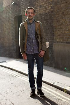Coggles street style, love the shirt.