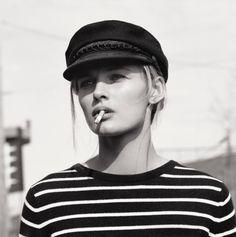 Morning   Edita Vilkeviciute Poses for Mark Peckmezian in Black & White for Holiday Magazine   www.stylissima.co.il