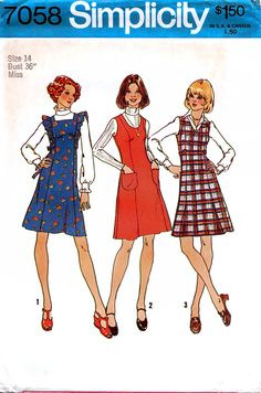Simplicity 7058 Vintage 70s Misses' Short by retrowithlana on Etsy