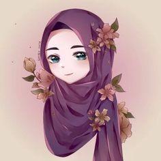 Art Drawings Sketches Simple, Girly Drawings, Cartoon Drawings, Sarra Art, Hijab Drawing, Islamic Cartoon, Hijab Cartoon, Cute Cartoon Girl, Islamic Girl