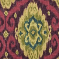 This is a medium weight 100% Cotton Linen with an Ikat Pattern.