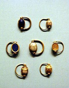 rotating scarab rings
