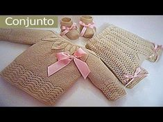 Conjunto para bebe 0-3 meses paso a paso (Pantalon) tercera parte - YouTube Knitting For Kids, Baby Knitting Patterns, Crochet For Kids, Knitting Stitches, Sewing Patterns, Crochet Baby Shoes, Knit Crochet, Baby Barn, Baby Bonnets