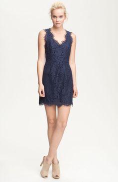 Joie Blue Rori Sleeveless Lace Dress