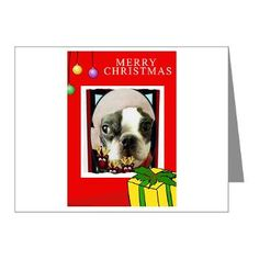 we have items with boston terrier here  http://www.cafepress.com/blamemyparents/4091902 more then just cards i promise