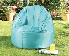 Original Gift Company Waterproof Bean Bag Chair Teal Blue Panama Add A Splash Of Colour To Any Gathering With One These Vibrant Chairs