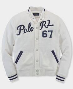 5f7500a5dbd1 Ralph Lauren Childrenswear Boys  Atlantic Terry Baseball Jacket - Sizes S-XL  Kids - Bloomingdale s