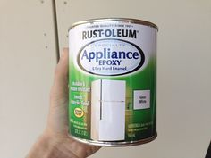 How To Paint A Refrigerator - Refrigerator - Trending Refrigerator for sales. - Appliance Paint Rust-oleum Appliance Epoxy change up the color of your refrigerator from cream to white Young House Love, Specialty Appliances, Home Appliances, Bosch Appliances, Painting Appliances, Paint Refrigerator, Fridge Makeover, Kitchen Redo, Kitchen Ideas