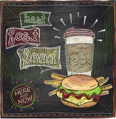 Лучший Дизайн Доске Быстрого Питания С Гамбургерами, Картофелем И стоковый вектор - Clipart.me