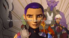 {Sabine's Promise To Ezra there was something else I was meant to do. Star Wars Quotes, Star Wars Humor, Use The Force Luke, Star Wars Rebels Characters, Ezra And Sabine, Sw Rebels, Tribal Warrior, Star Wars Facts, The Phantom Menace