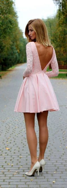 Cute pink dress for Valentine's Day