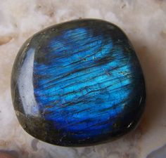 Labradorite - stone specimen - polished tumbled - blue fire - large - lapidary supplies large cabochon free form wire wrap supply on Etsy, $10.45 CAD
