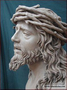 Religious Tattoos, Religious Art, Jesus Tattoo, Jesus Face, Biblical Art, Art Sculpture, Jesus Pictures, 3d Prints, Angel Art